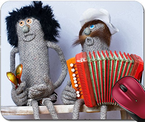 Liili Mousepad Music band from woman doll with spoons and man doll with accordion Photo 6243130