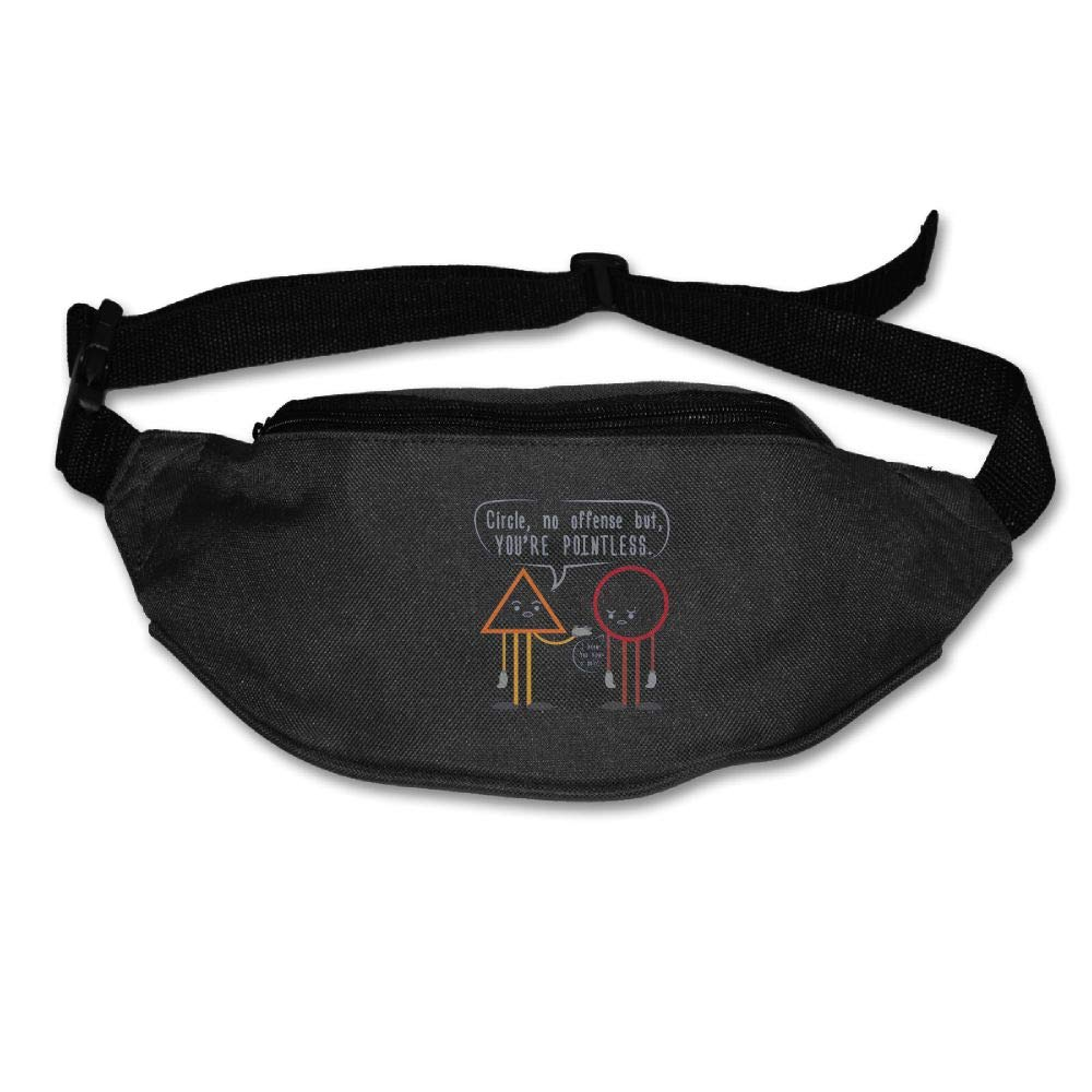 Ada Kitto YOU'RE POINTLESS Mens&Womens Sport Style Waist Pack For Running And Cycling Black One Size
