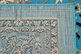 Unique Loom Kashan Collection Turquoise 8 ft Square
