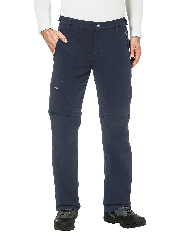Bleu (eclipse) 48-S VAUDE Hommes's Farley Pantalon Stretch T-Shirt Zip Pants