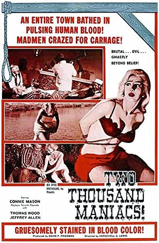Amazon.com: Two Thousand Maniacs! - 1964 - Movie Poster: Posters & Prints