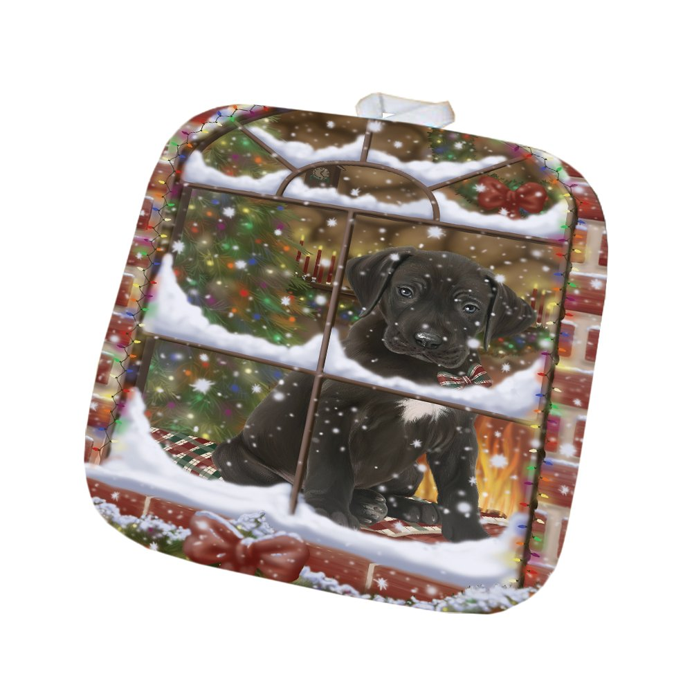 Please Come Home For Christmas Great Dane Dog Sitting In Window Pot Holder POT48395