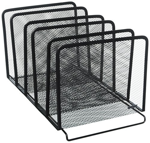Rolodex Mesh Collection Stacking Sorter, 5-Section, Black (22141) (2, Black) -