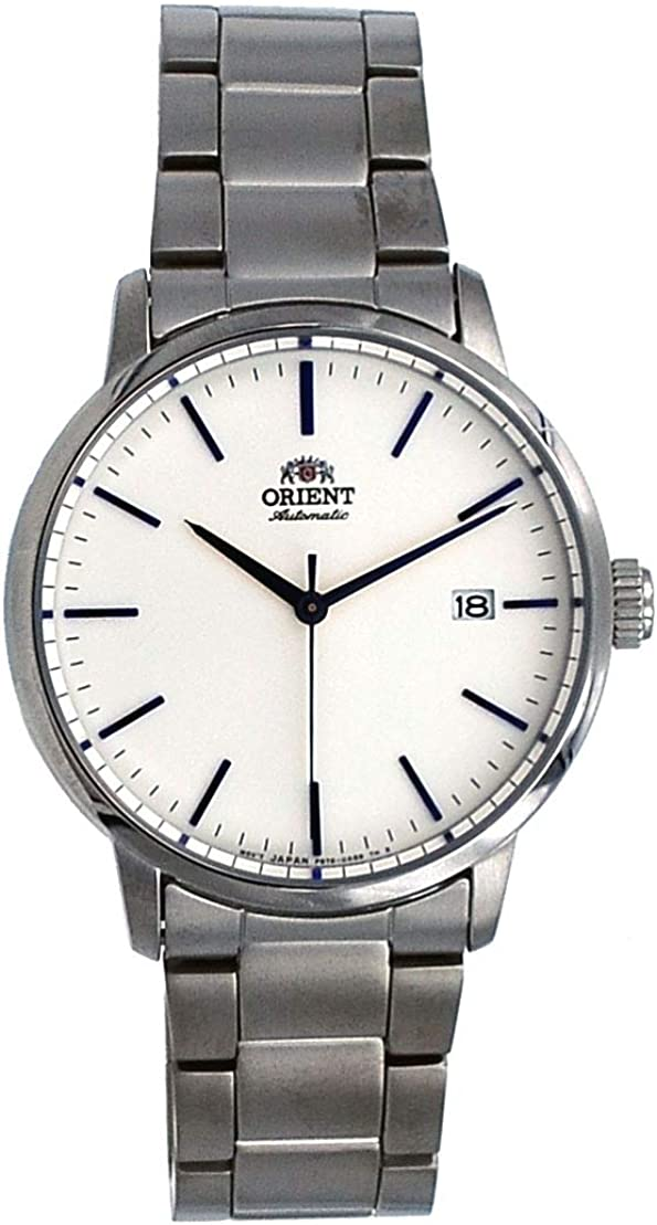 Orient RA-AC0E02S Men's Maestro Stainless Steel Minimalist White Dial Automatic Watch