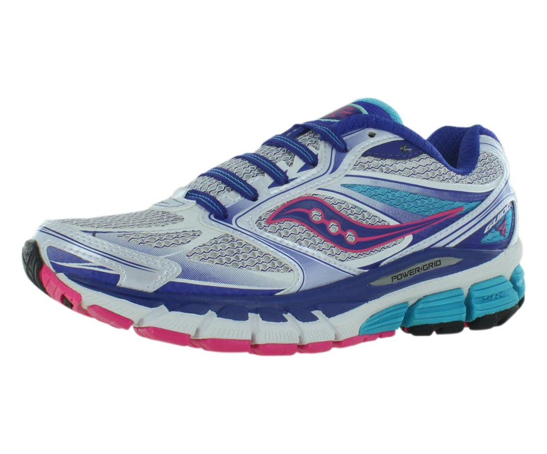 Saucony Women's Guide 8 Running Shoe,White/Twilight/Pink,9 N US