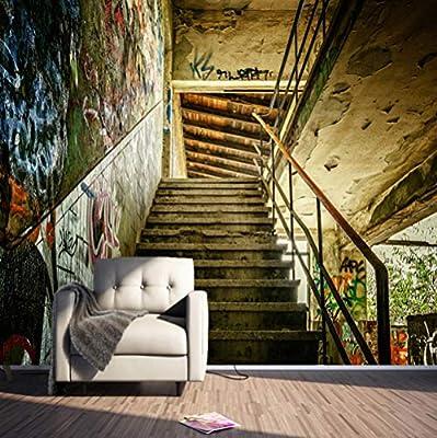 Fotomurales Papel Pintado No Tejido Escaleras de graffiti Decoración De Pared Decorativos Murales Diseno Fotográfico Salon Elegante Moderno Fine Decor 400cm x 280cm: Amazon.es: Bricolaje y herramientas