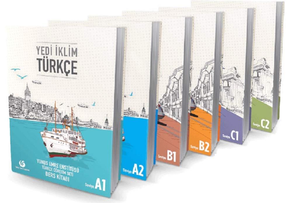 Turkish Language Complete Set Course Books Yedi iklim 6 Books 6 levels A1 A2 B1 B2 C1 C2 Yunus Emre Institute