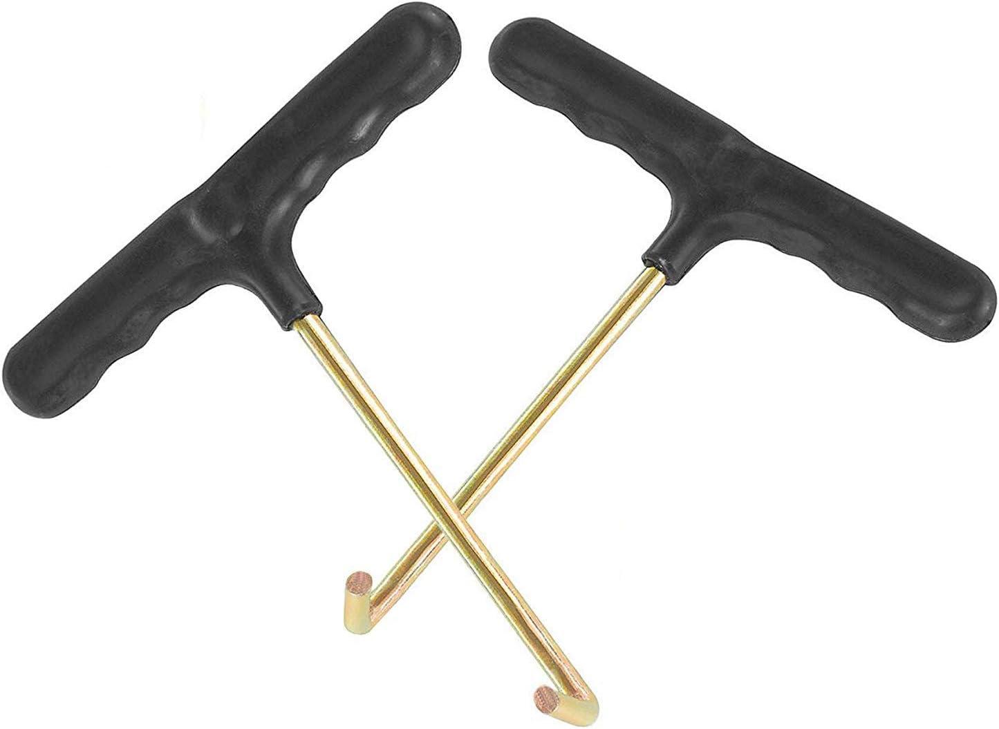 Meteou Trampoline Spring Pull Tool Kit 2 PackSpring T-Hook Adjustment Pull To