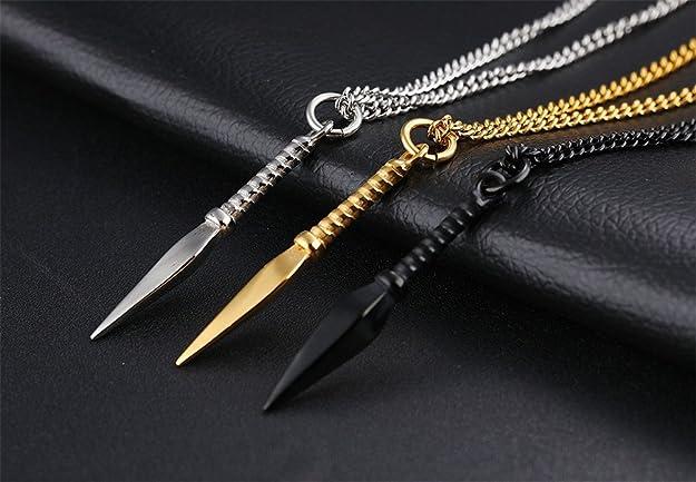 Amazon.com: LANHI - Collar con colgante de acero inoxidable ...