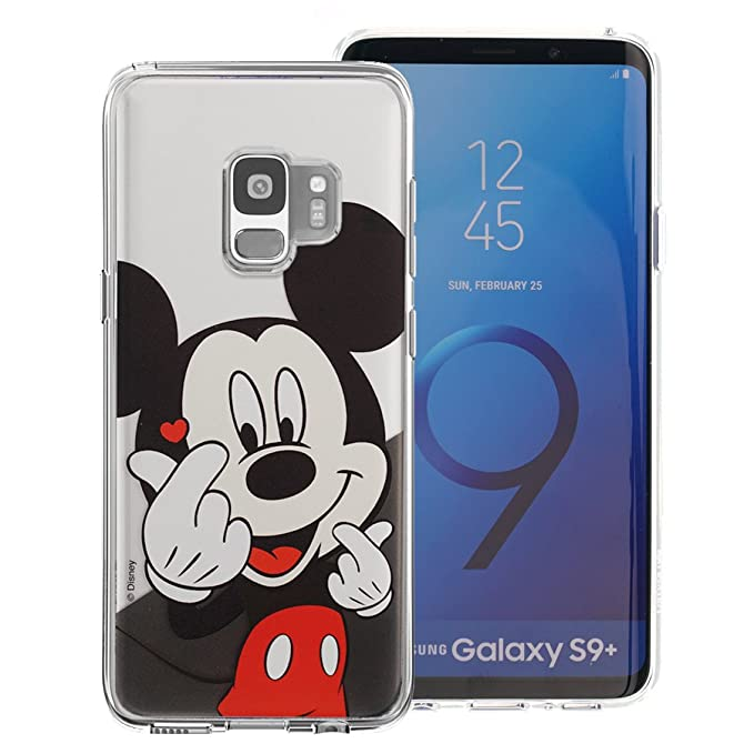 brand new ea840 f1f96 Galaxy S9 Plus Case, Cute Soft Jelly Cover for [ Galaxy S9 Plus ] Case -  Heart Mickey Mouse