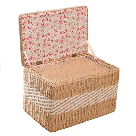 straw storage stool with bulrush rattan wicker weave home office rh amazon co uk Luxury Home Office Furniture Home Office Furniture Desks
