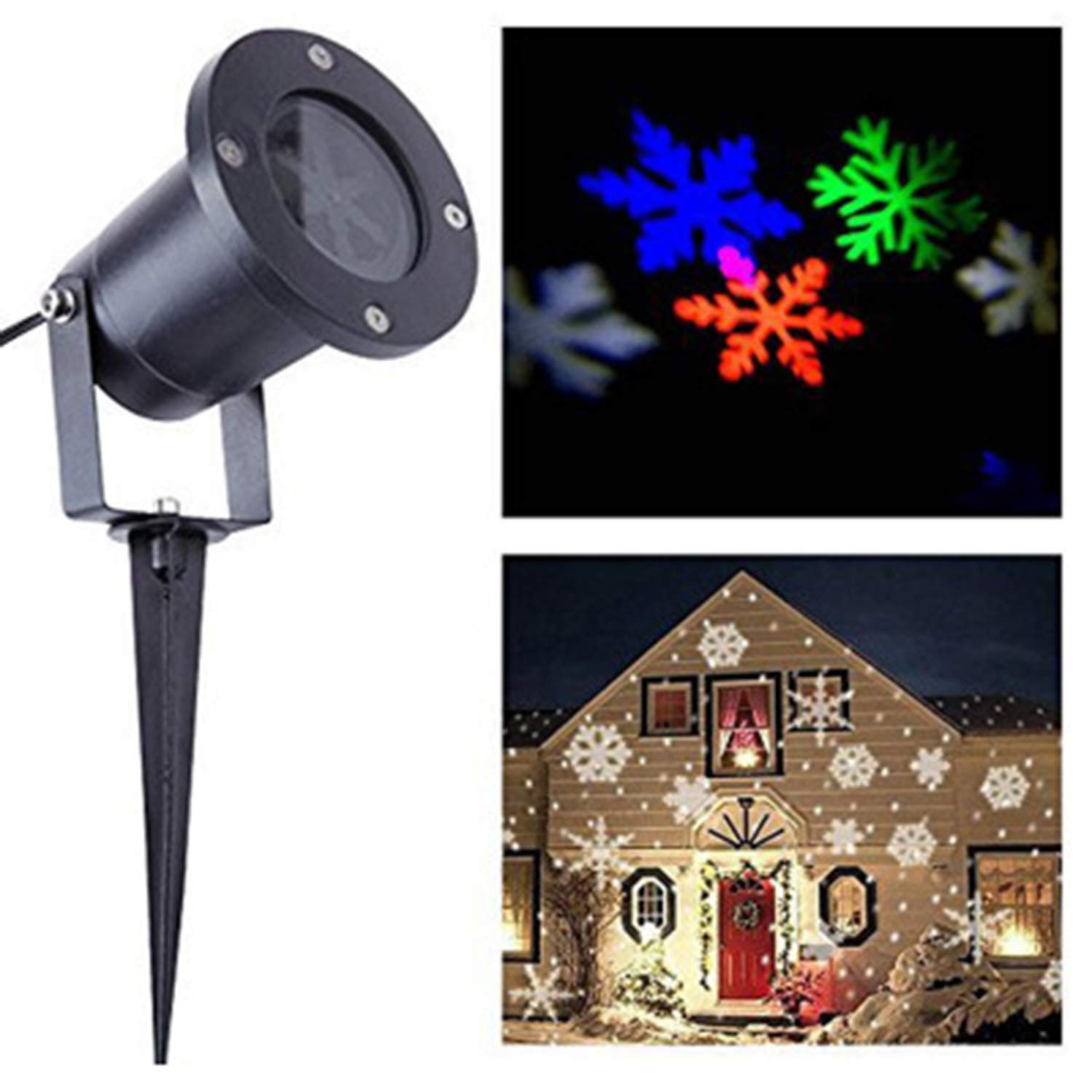 Snow Light LED Outdoor Waterproof Snowflake Project Light Effect Light Christmas Decoration Light Lawn Landscape Light