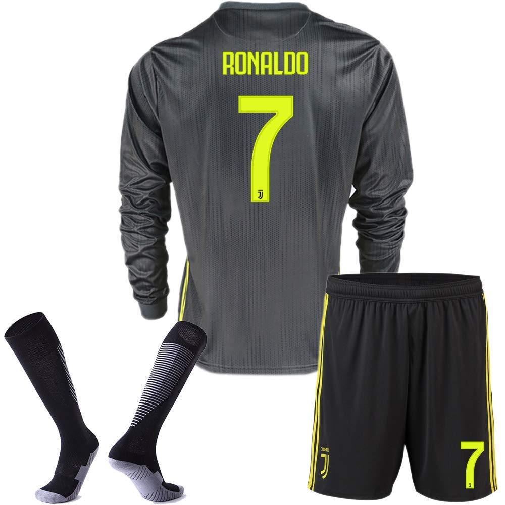 info for 84a68 ba87e Juventus Away Ronaldo #7 2018-2019 Season Kids/Youth Soccer ...