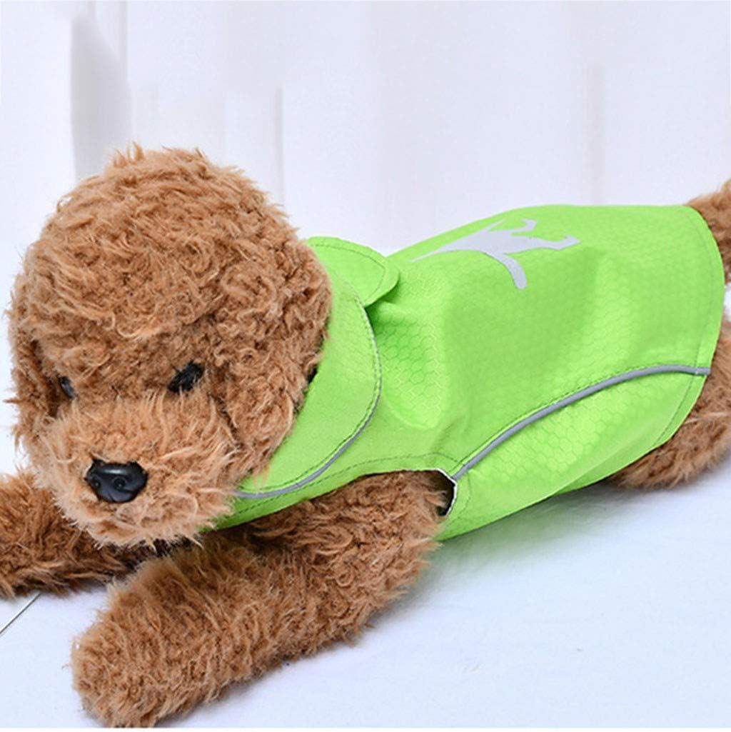 Reflektierende Streifen wasserdichte Atmungsaktiv Klettdesign PU Regenjacke f/ür kleine Mittel Hunde Gr/ö/ße S-XL Smniao Hund Regenmantel