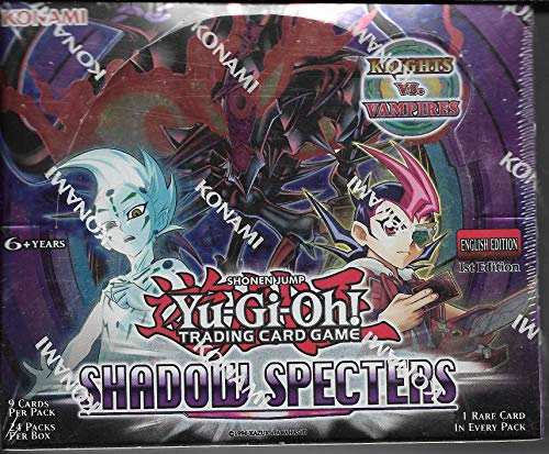 Yu Gi Oh! Shadow Specters 1st Edition Sealed Box of 24 Packs Of 9 Cards With 1 Rare Per Pack