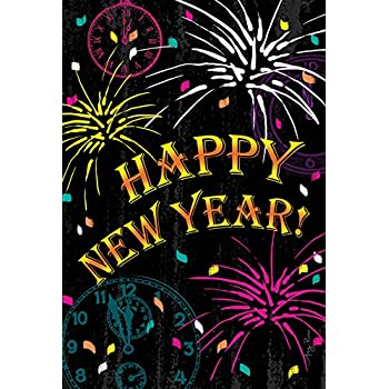 amazon com happy new year glasses garden flag outdoor decorative