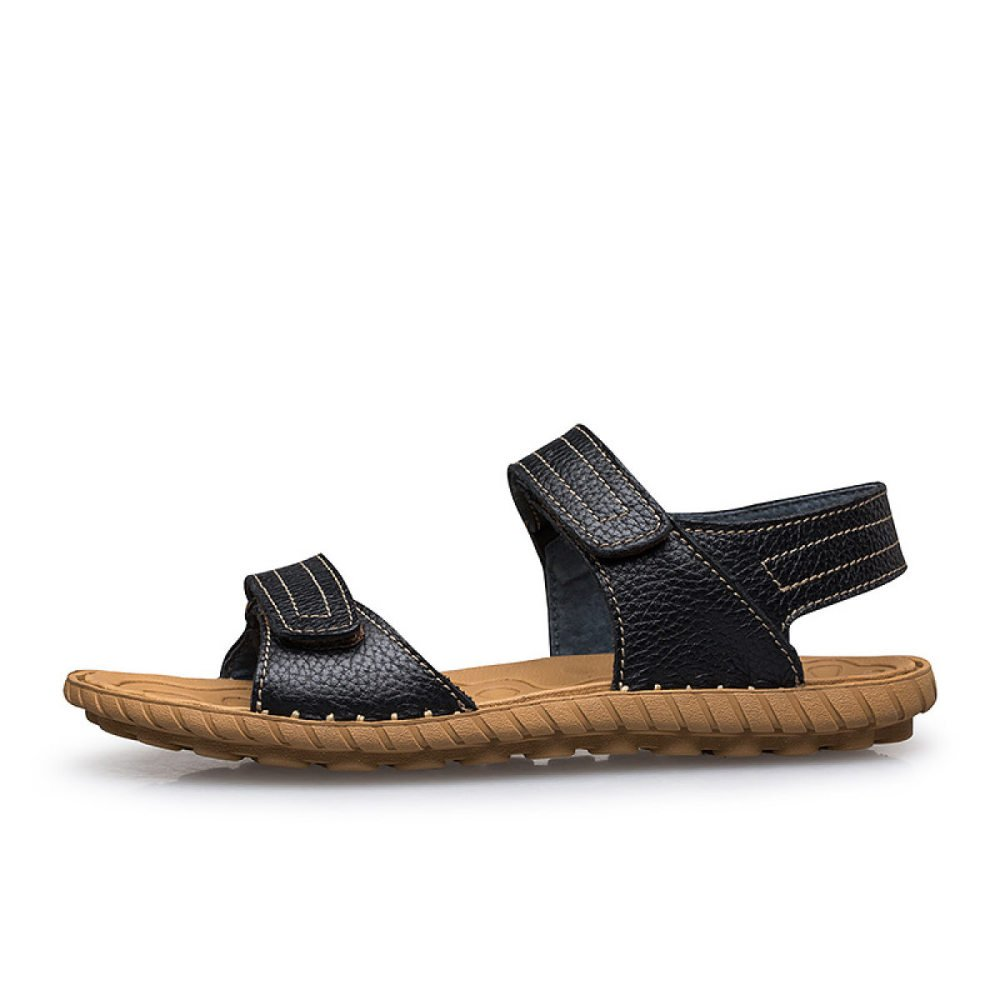 Zapatos De Cuero para Hombres Sandalias Calzado De Hombre Moda Verano Casual Simple 37 EU Black