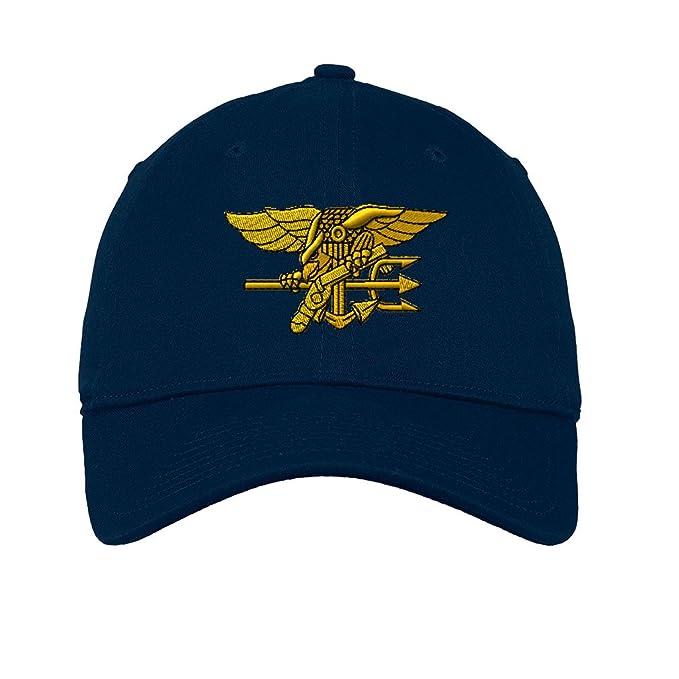 Amazon.com  U.S. Navy Seal Twill Cotton 6 Panel Low Profile Hat Navy ... d9fecd8f4da2