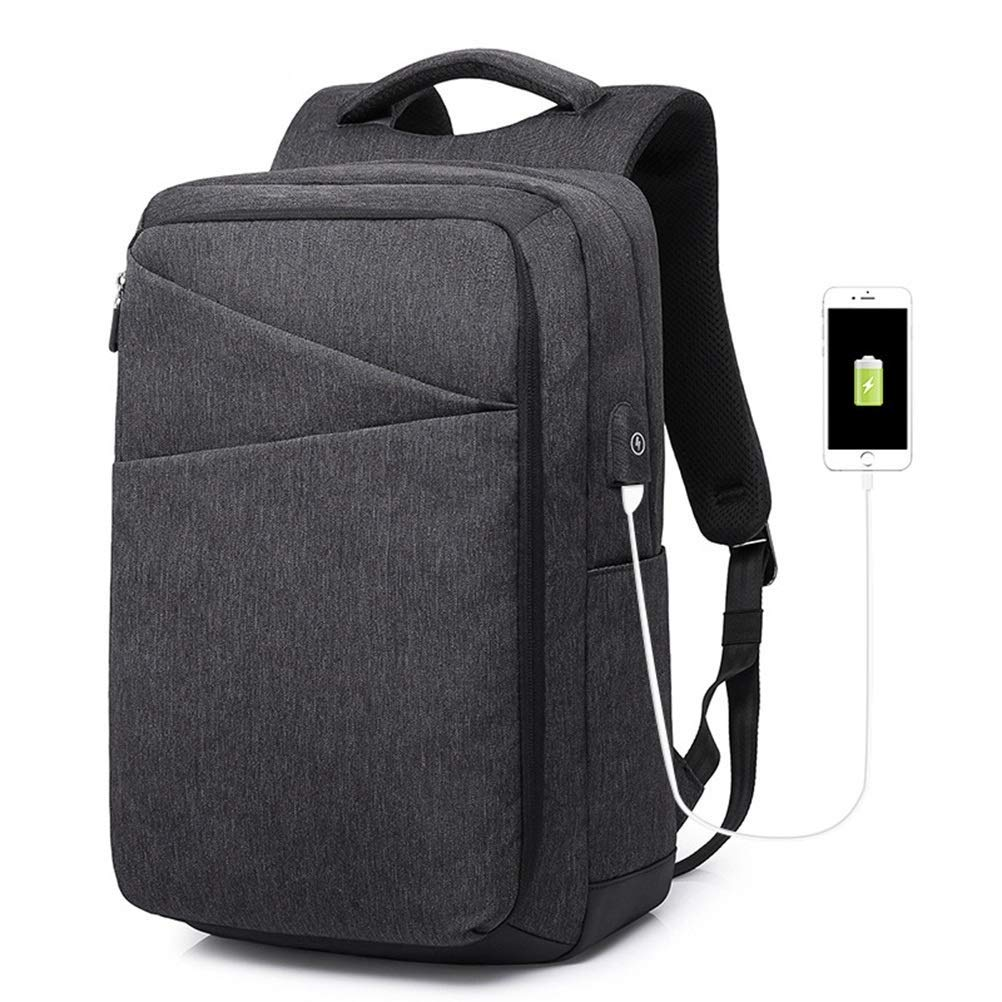 TRE 学校用軽量バックパック、ボトルサイドポケット付き旅行用のクラシックベーシック防水カジュアルデイパック (色 : ブラック) B07R1XTRCG ブラック