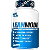 Evlution Nutrition Lean Mode - Complete Stimulant-Free Weight Loss Support and Diet System with Green Coffee, Carnitine, CLA,