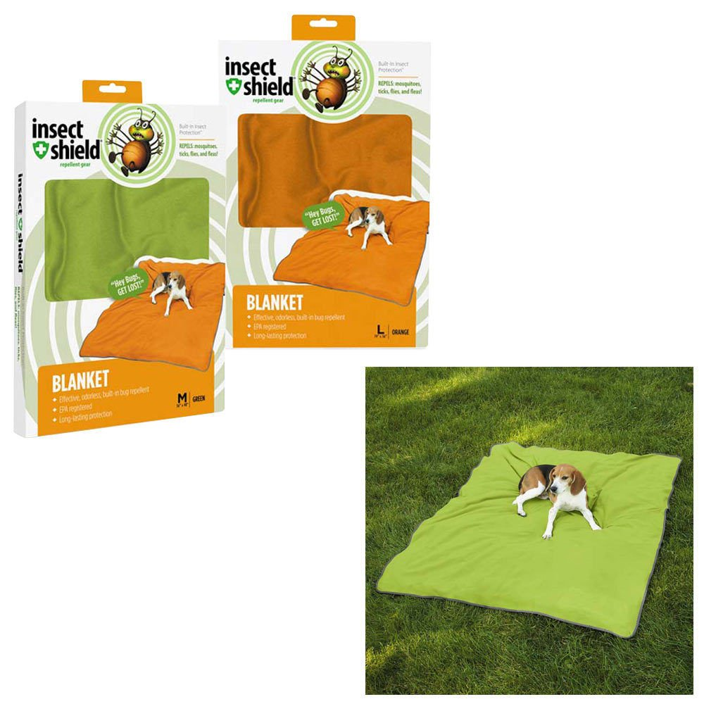 Guardian Gear Insect Shield Pet Blanket, 56 by 48-Inch, Green by Guardian Gear (Image #1)