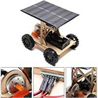 JACKBAGGIO New DIY Technology Scientific Physical Hand-Assembled Model Solar Car Experimental Kits for Children Between 6-12 Years Old (PM02)