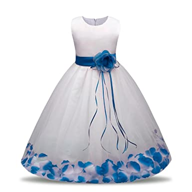 4557084a7 For 0-7 Years Old Girls DEESEE Kids Sleeveless Flower Birthday Wedding  Bridesmaid Pageant Tutu