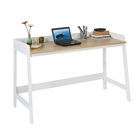 SoBuy Mesa de Escritorio, Mesa de Ordenador con un Estante,Color ...