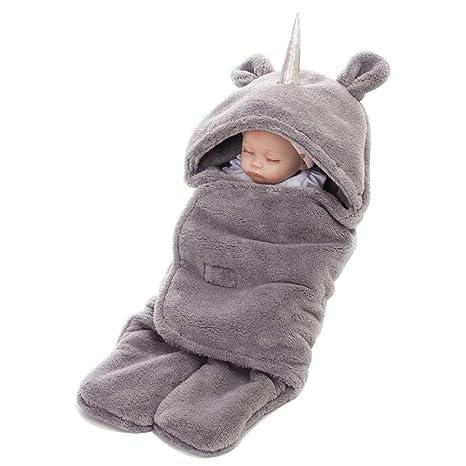 Unicornio Saco de Dormir A Manta Envolvente Unisex bebé diseño Pijama Traje de Conjunto de Manta