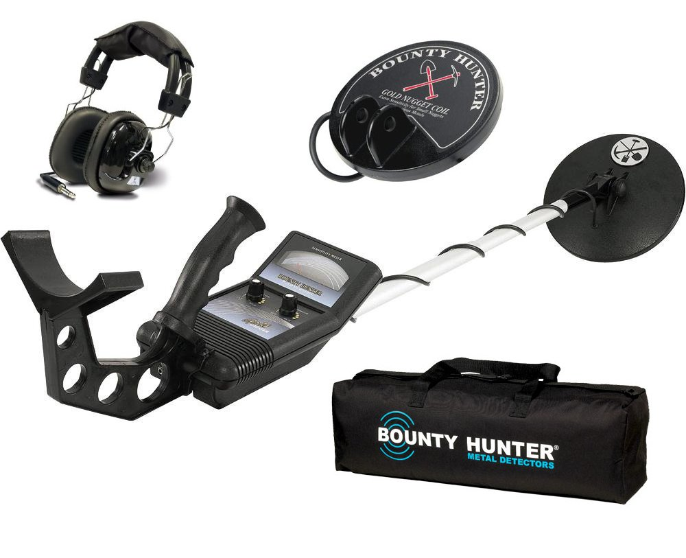 Amazon.com: First Texas Bounty Hunter Gold Digger Metal Detector w/ Headphones, Bag & Coil: Computers & Accessories