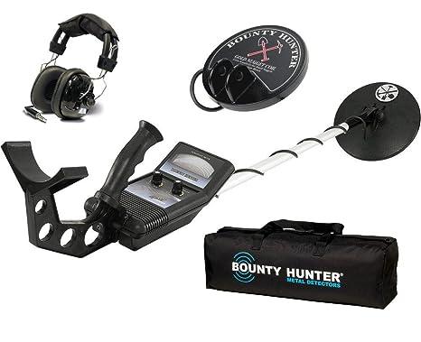Primera Texas Bounty Hunter Buscador de oro Metal detector W/auriculares, bolsa y bobina