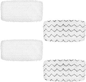 2 Pack Cleaning Pads Steam Mop Pads Replacement Washable Microfiber Mop Pads for Shark Steam Pocket Mops