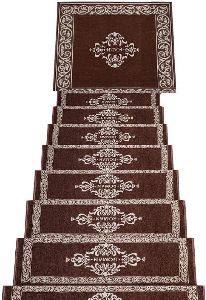 ACZZ Almohadillas de escalera Alfombra autoadhesiva Peldaños de escalera Alfombrilla Alfombrilla antideslizante Protección de escalones Cubierta de alfombra Marrón_30X120Cm,marrón,30 * 85cm: Amazon.es: Bricolaje y herramientas