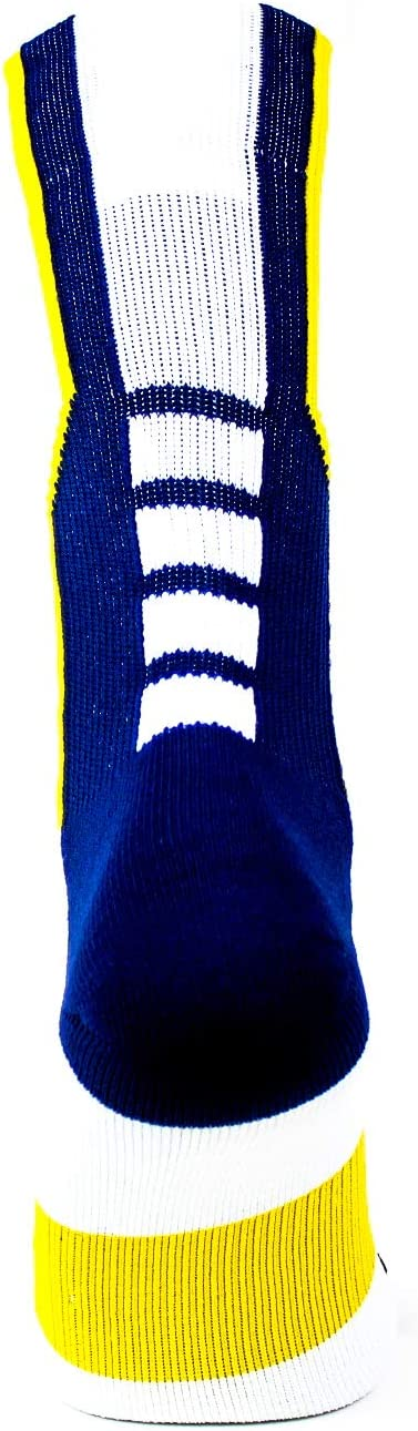 One Size White Donegal Bay NCAA Michigan Wolverines Sport Socks