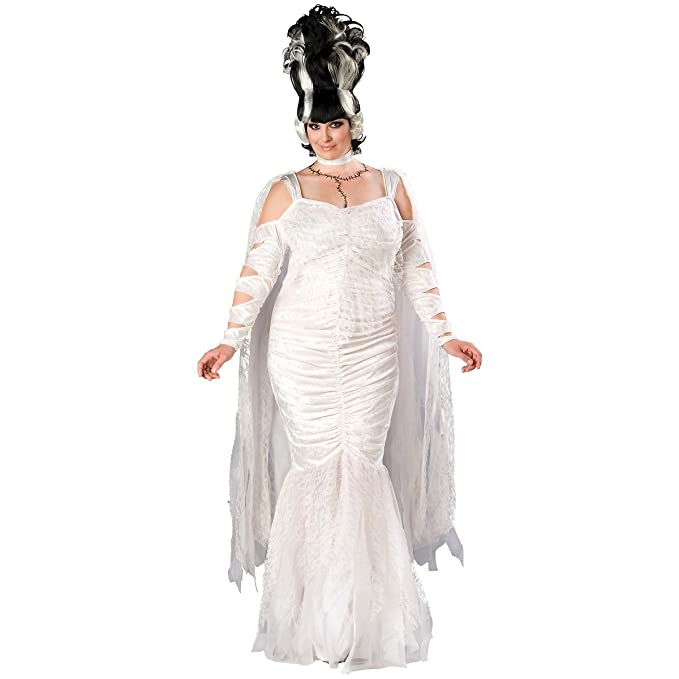 1930s Costumes- Bride of Frankenstein, Betty Boop, Olive Oyl, Bonnie & Clyde In Character Costumes Womens Bride Of Frankenstein Monster Elite Adult Costume $148.48 AT vintagedancer.com