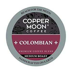 Copper Moon Blend Medium Roast Coffee Pods Compatible with Keurig K Cup Brewers, Colombian, 20 Count