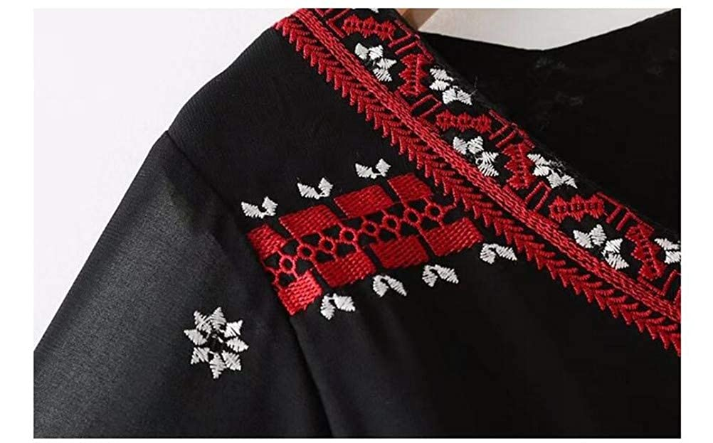 National Style Embroidery Ladies Long Show top