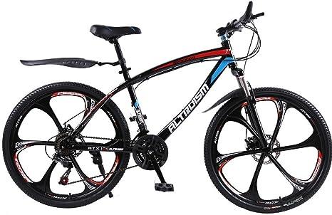 Altruismo Q1 – 26 inch bicicleta de ciclocross bicicletas 21 velocidades para bicicleta de montaña bicicleta freno de disco doble bicicletas de carretera para hombres mujeres bicicletas, negro: Amazon.es: Deportes y aire libre