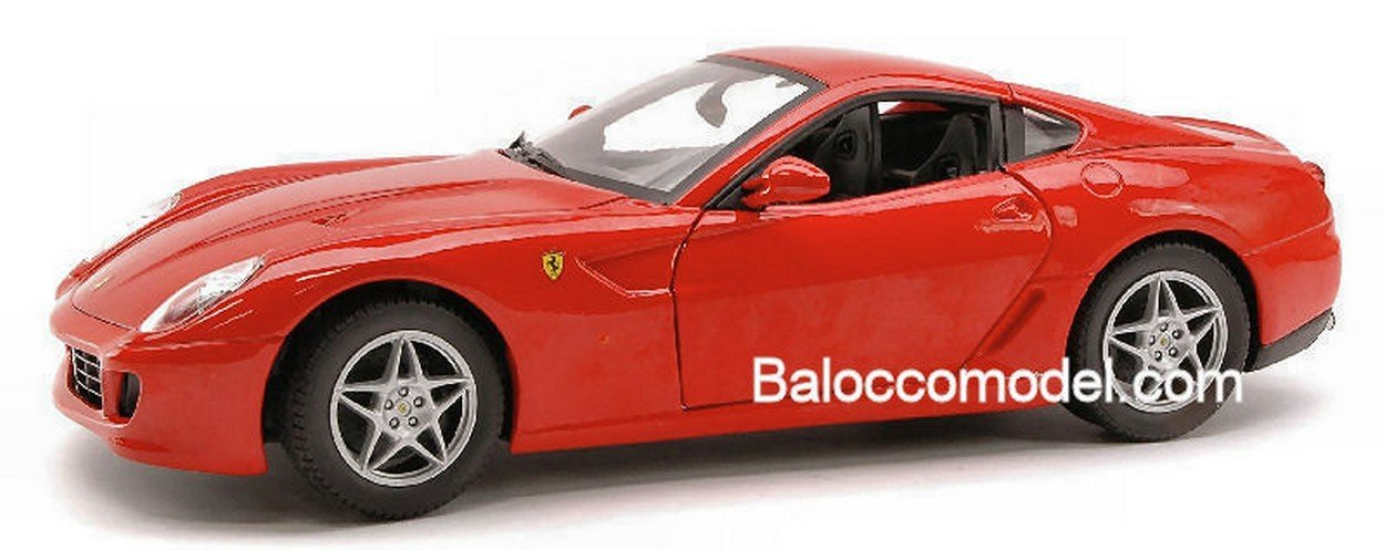 Hot Wheels HWP4398 Ferrari 599 GTB 2006 2006 2006 ROT Foundation 1:18 MODELLINO DIE CAST db0452