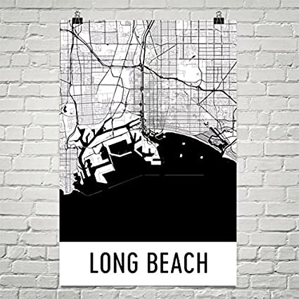 Long Beach Poster, Long Beach Art Print, Long Beach Wall Art, Long Beach
