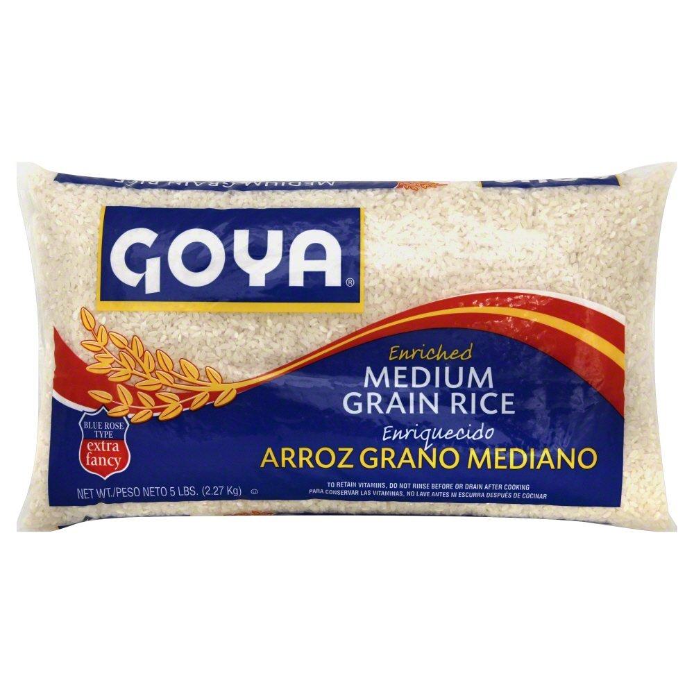 Goya Fancy Blue Rose/Medium Grain Rice, 5 Pound -- 12 per case.