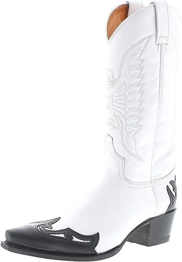 Sendra Boots 13170 Botas de Piel para Mujer, Color Blanco