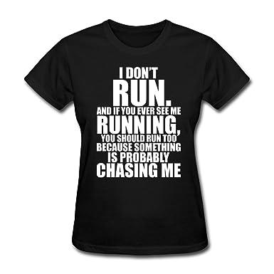 Amazon.com: Spreadshirt Running Funny Quote Women's T-Shirt: Clothing