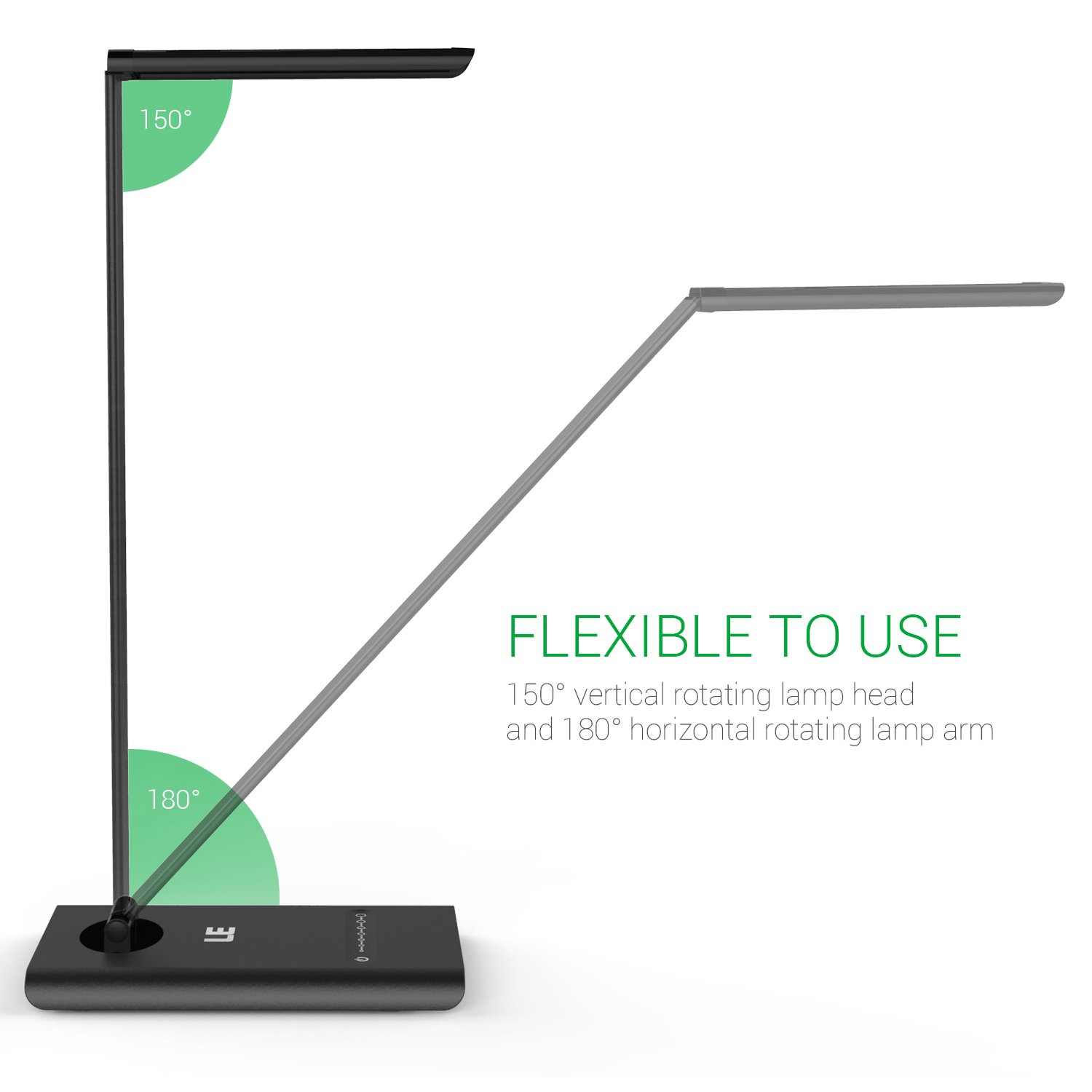 Le dimmable led desk lamp 7 brightness levels eye protection le dimmable led desk lamp 7 brightness levels eye protection design reading lamp touch sensitive control 6w folding table lamp daylight white geotapseo Choice Image