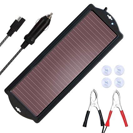 SARONIC Cargador de batería Solar, Cargador de batería de ...