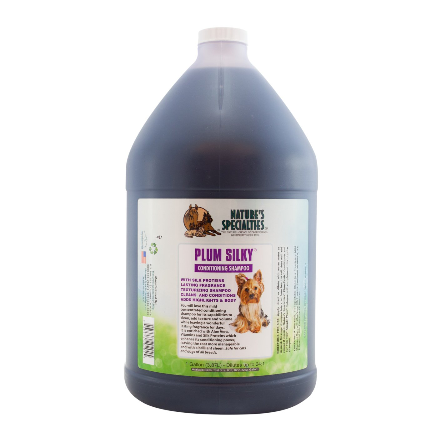 Nature's Specialties Plum Silky Shampoo for Pets by Nature's Specialties Mfg