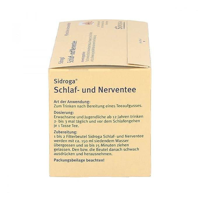 Sidroga para dormir - Y entee nervio 20 unidades filtros con varias capas: Amazon.es: Salud y cuidado personal