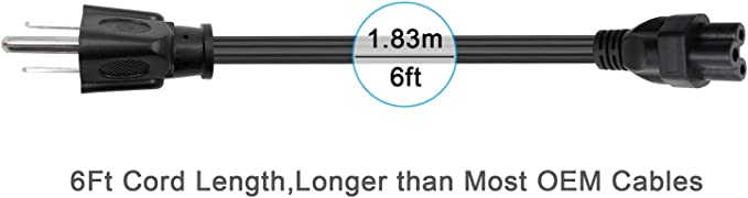 UL Listed] POWSEED 6 pies 3 Clavijas AC Cable de alimentación de Pared TV Cable de alimentación para LG LED LCD Smart 1080p HDTV GA6450 32LB580B 32LB5600 42LN5700 55LB5900 NEMA 5-15P: Amazon.es: