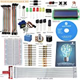 SunFounder Project LCD Starter Kit w/ 26-Pin GPIO Extension Board, 1602 LCD, Breadboard, Jumper wires, Servo Motor, Relay, Resistors, Buzzer for Raspberry Pi
