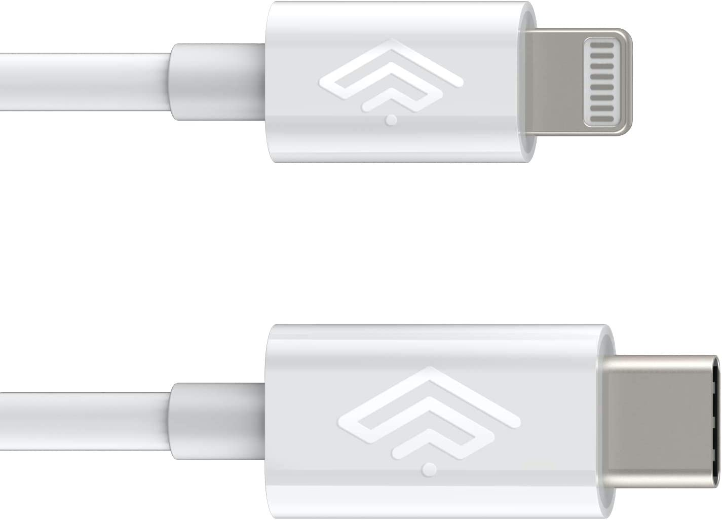 Apple Certified iPhone Lightning USBC Cable 3 ft - for iPhone 12 Pro Max Mini 11 X XS XR XS Max 8 Plus 8 7 Plus 7 iPad Pro iPad Air - Charge & Sync - 2.4a Rapid Power - Travel Ready - White